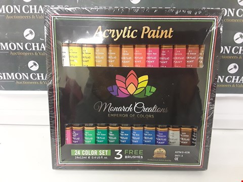 Lot 10730 BOXED & SEALED MONARCH ACRYLIC PAINT PALETTE
