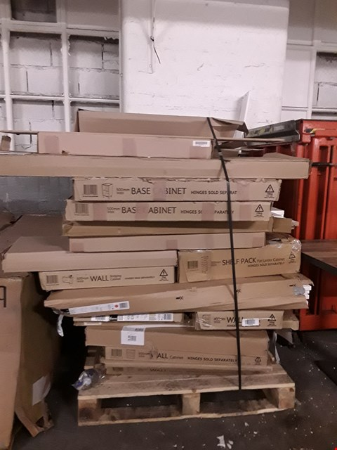 Lot 3323 PALLET OF ASSORTED FLAT PACK KITCHEN ITEMS