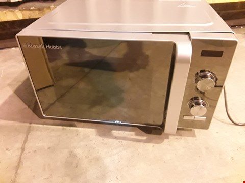 Lot 8001 RUSSELL HOBBS RHFM2001S 19L FLATBED DIGITAL 700W SOLO MICROWAVE SILVER