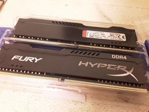 Lot 4291 Hyperx 16gb ddr4 memory kit - 2 sticks