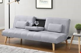 Lot 1086 STYLE IN HOME  BROOKLYN LIGHT GREY FABRIC SOFA BED  RRP £499.99