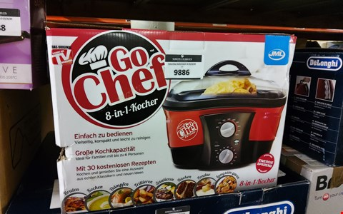 Lot 9886 BOXED GO-CHEF 8-IN-1 COOKER