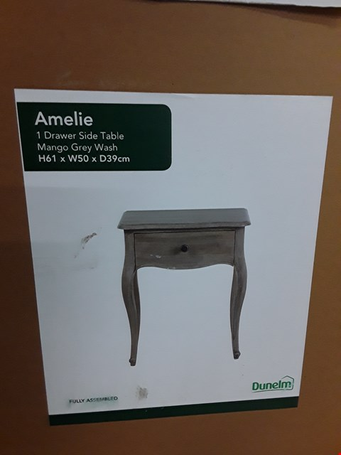 Lot 7082 B9XED AMELIE 1-DRAWER SIDE TABLE