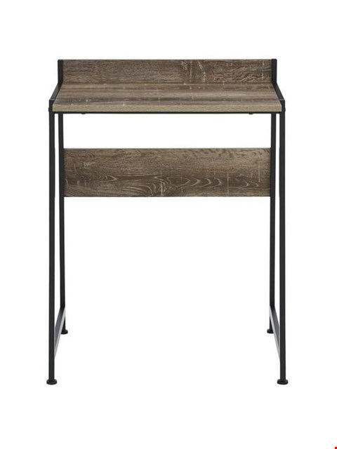 Lot 281 BRAND NEW BOXED TELFORD RUSTIC OAK-EFFECT INDUSTRIAL LOOK DESK (1 BOX) RRP £49.00