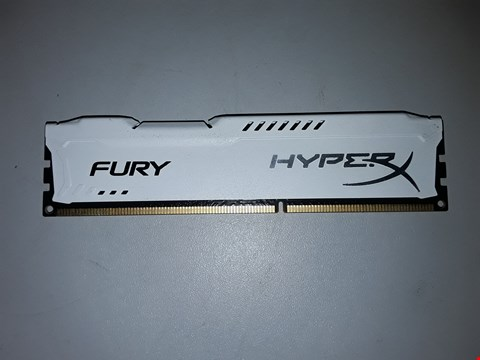 Lot 425 DDR3 8GB PC 1600 CL10 KINGSTON KIT (1X4GB) HYPERX FURY WHITE (ONLY HAS ONE PART)
