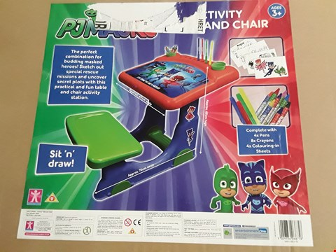 Lot 2279 PJ MASKS ACTIVITY DESK AND CHAIR RRP £51