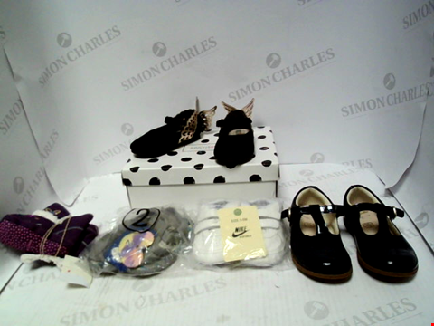 Lot 16202 BOX OF APPROXIMATELY 5 PAIRS OF BABY SHOES TO INCLUDE SOPHIE WEBSTER, NIKE, CLARKS ETC.