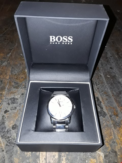 Lot 13150 GRADE 1 BOSS SILVER DETAIL DIAL STAINLESS STEEL WATCH RRP £209.00