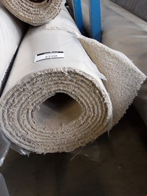 Lot 2220 ROLL OF VARIETY TRIALS CREAM CARPET - MEASURES APPROXIMATELY 4.8 X 4M