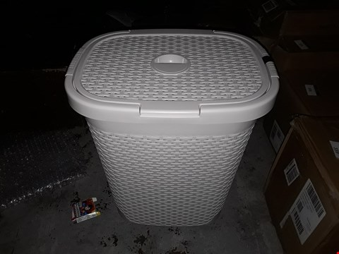 Lot 361 GRADE 1 ADDIS 50-LITRE FAUX RATTAN LAUNDRY HAMPER  RRP £44.99