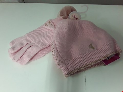 Lot 914 BRAND NEW BAKER BY TED BAKER PINK HAT AND GLOVE BOW SET AGE 11-13