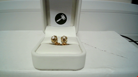 Lot 2 18CT YELLOW GOLD DIAMOND SET EARRINGS RRP £1425.00