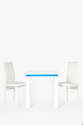 Lot 36 BOXED LED DINING SET WHITE ( 3 BOXES )