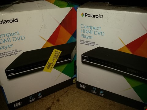 Lot 1173 LOT OF 2 POLAROID COMPACT HDMI DVD PLAYERS (BOX CONDITION MAY VARY)