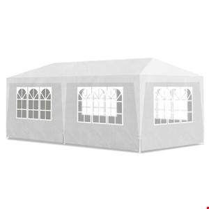 Lot 2086 EXTRA LARGE POP UP GAZEBO 3 X 6 M NATURAL