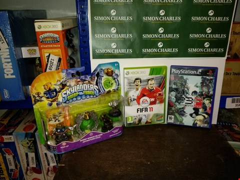 Lot 4764 LOT OF 3 VIDEO GAME ITEMS TO INCLUDE SKYLANDERS SWAP FORCE SHEEP WRECK ISLAND, FIFA 11 XBOX 360 GAME AND PERSONA 3 PS2 GAME