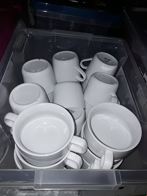 Lot 8065 BOX OF APPROXIMATELY 26 ASSORTED MUGS AND COFFEE CUPS