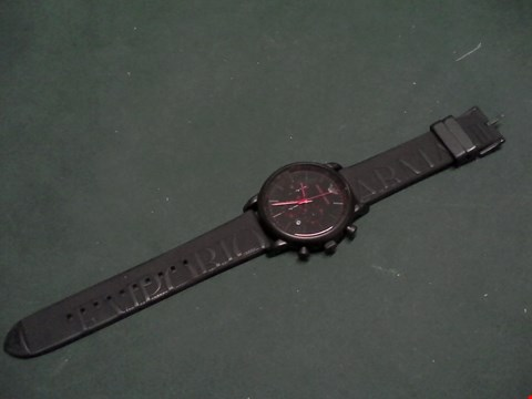 Lot 1553 EMPORIO ARMANI BLACK IP STAINLESS STEEL WATCH RRP £289