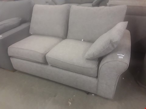 Lot 72 DESIGNER GREY FABRIC TWO SEATER SECTION