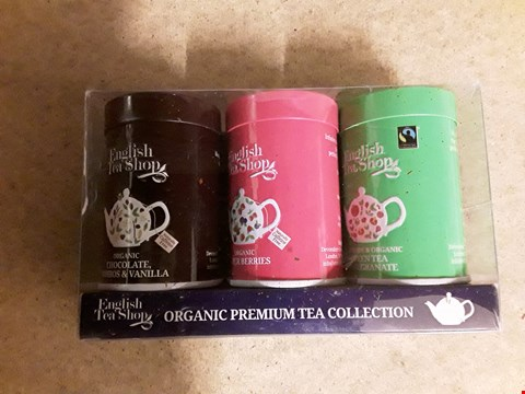 Lot 2484 LOT OF 3 ITEMS TO INCLUDE ORGANIC PREMIUM TEA COLLECTION, A PERSONALISED MONEY CLIP AND A PERSONALISED SILVER LIGHTER RRP £46