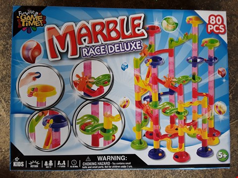Lot 71 LOT OF 2 ITEMS TO INCLUDE 720 MULTI FUNCTION WARM WHITE CLUSTER LIGHTS AND MARBLE RACE DELUXE SET  RRP £75