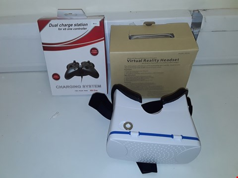 Lot 1102 LARGE QUANTITY OF ASSORTED TECH ITEMS INCLUDES DUAL CHARGE STATION FOR XB ONE AND VIRTUAL REALITY HEADSETS