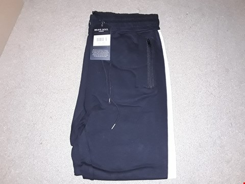 Lot 142 BOX OF APPROXIMATELY 10 BLACK AND WHITE LARGE BRAVE SOUL JOGGERS