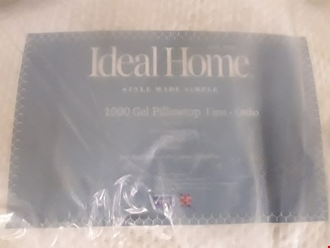 Lot 184 DESIGNER BAGGED 180CM IDEAL HOME 1000 GEL PILLOWTOP FIRM ORTHO MATTRESS