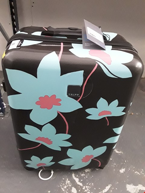 Lot 67 TRIPP 77CM SLATE/COOL MINT HARD SHELL SUITCASE