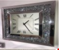 Lot 1047 BRAND NEW DIAMOND CRUSH MIRRORED WALL CLOCK RRP £159.99