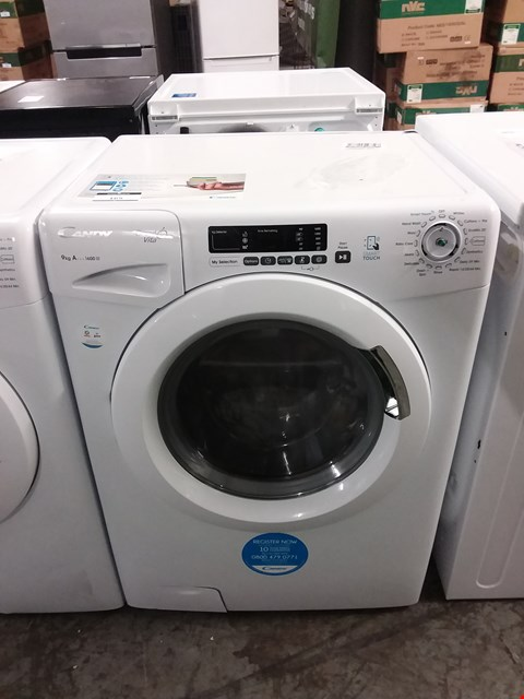 Lot 3131 CANDY GRAND VITA 9KG 1600 SPIN WASHING MACHINE IN WHITE - GVS 169D3/1-80