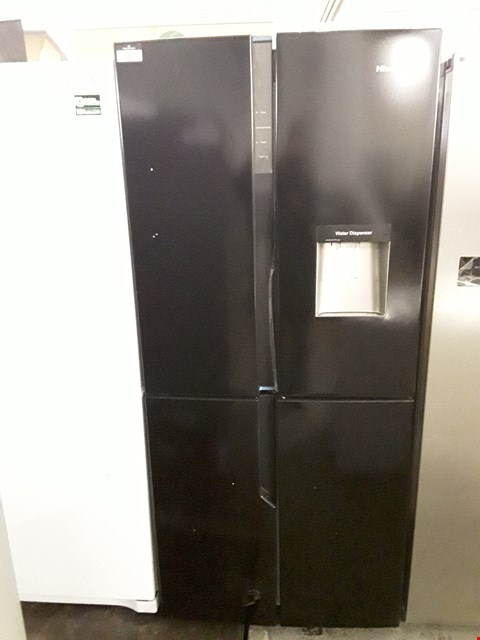 Lot 68 HISENSE BLACK FRENCH STYLE FRIDGE FREEZER - 79.4 CM - 431 LITRE RQ560N4WB1 RRP £679.00