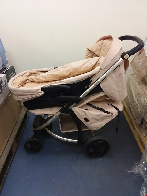 Lot 10503 MY BABIIE BILLIE FAIERS MB200+ ROSE GOLD & BLUSH TRAVEL SYSTEM  RRP £349.99