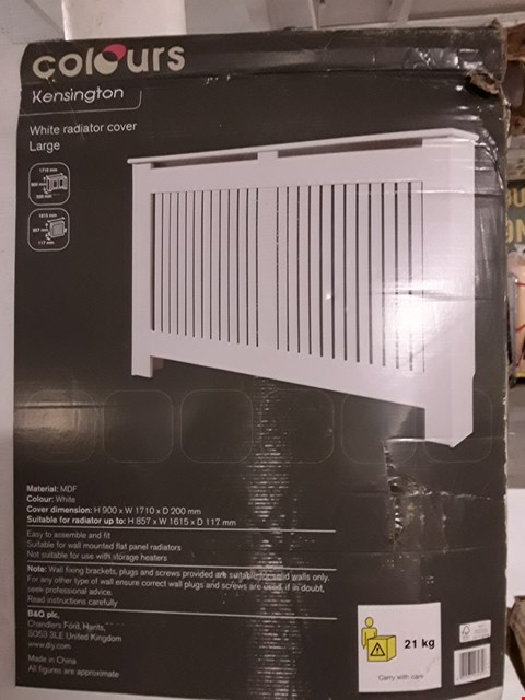 Lot 3196 COLOURS KENSINGTON LARGE WHITE RADIATOR COVER H900 X W1710 X D200 MM