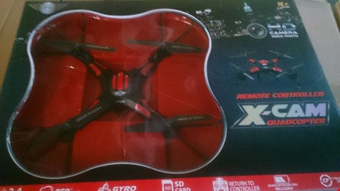 Lot 1252 BOXED XCAM QUADCOPTER FLYING DRONE