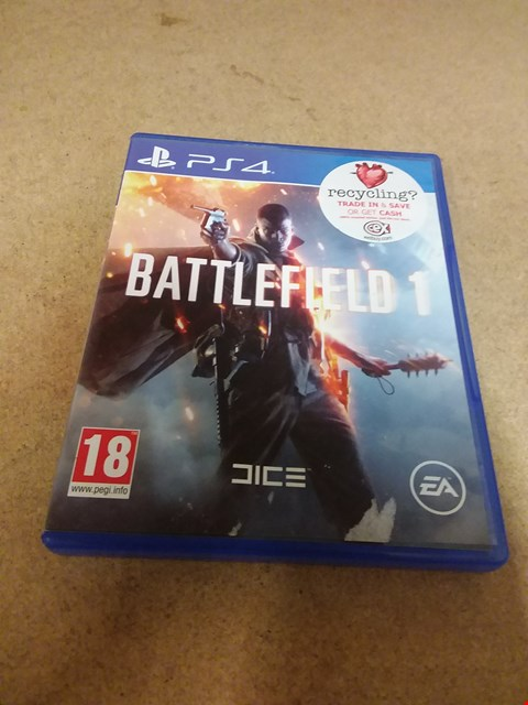 Lot 8227 BATTLEFIELD 1 PS4 GAME