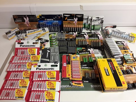 Lot 1183 BOX OF APPROXIMATELY 50 ASSORTED PACKS OF BATTERIES