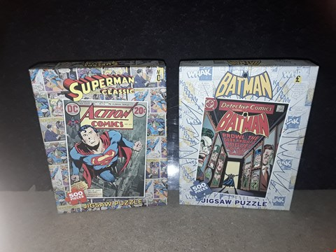 Lot 3016 LOT OF 2 JIGSAWS SUPERMAN + BATMAN