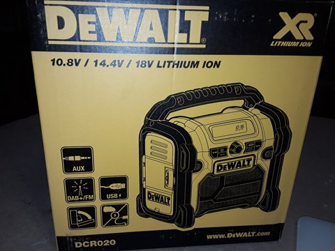 Lot 284 DEWALT DCR020 COMPACT SITE RADIO