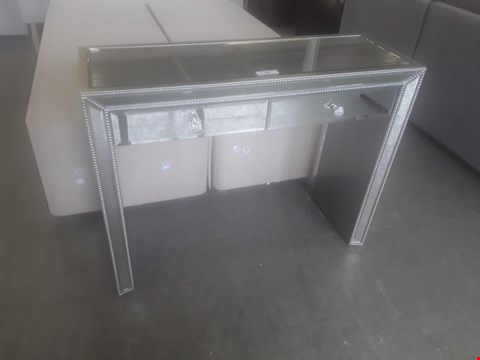 Lot 98 DESIGNER MIRRORED CONSOLE TABLE FITTED 2 DRAWERS