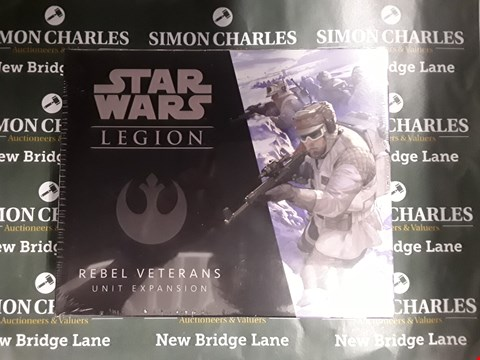 Lot 758 LOT OF 2 ASSORTED STAR WARS ITEMS TO INCLUDE GALACTIC HEROES FIGURE SET AND STAR WARS LEGION REBEL VETERANS UNIT EXPANSION PACK