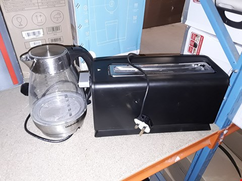 Lot 5263 DAEWOO STAINLESS STEEL KETTLE AND TOASTER TWIN PACK SET