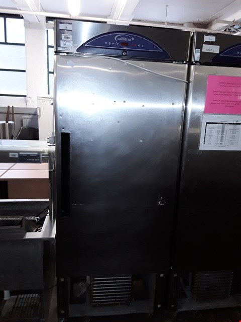 Lot 78 COMMERCIAL STAINLESS STEEL WILLIAMS SINGLE DOOR TALL FRIDGE