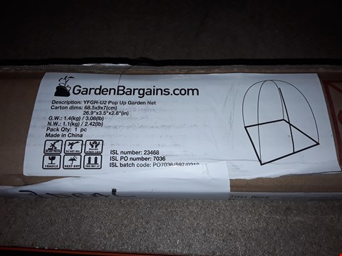 Lot 13849 LOT OF 4 POP UP GARDEN NETS