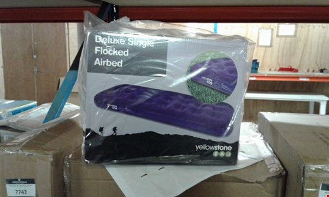 Lot 7717  BRAND NEW YELLOWSTONE DELUXE SINGLE FLOCKED AIRBED RRP £20.00
