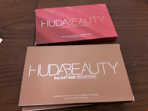 Lot 7107 LOT OF 3 HUDABEAUTY EYESHADOW PALETTES TO INCLUDE 2 X ROSE GOLD AND DESERT DUSK