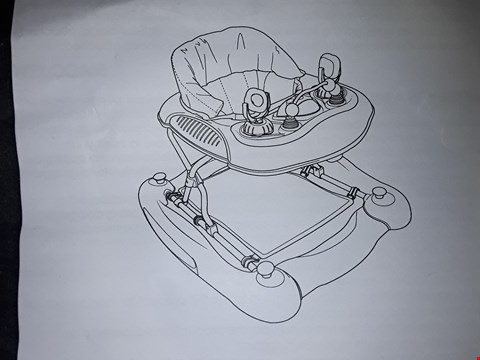 Lot 601 2 ITEMS TO INCLUDE LADYBIRD 2 IN 1 WALKER ROCKER AND SWAN STAINLESS STEEL KETTLE  RRP £85