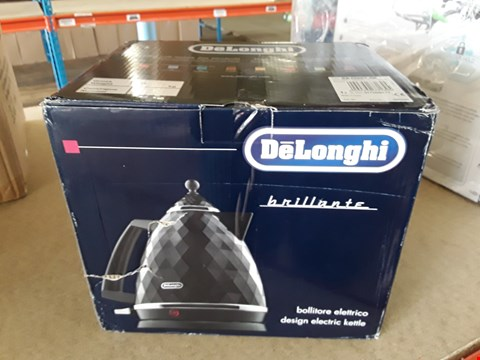 Lot 11189 BOXED GRADE 1 DELONGHI BRILLANTE BLACK KETTLE KBJ3001BK RRP £115
