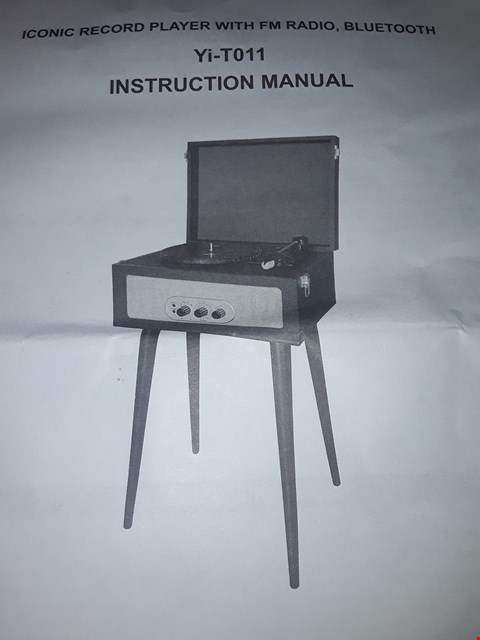 Lot 2050 60'S STYLE RECORD PLAYER WITH LEGS