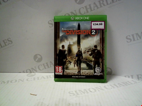 Lot 5730 TOM CLANCY'S THE DIVISION 2 XBOX ONE GAME